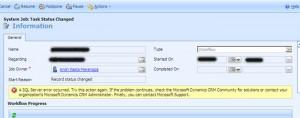 Dynamics CRM Workflow Error: SQL Server error occured